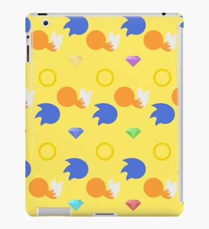 Sonic and Tails chaos emeralds (yellow) iPad Case/Skin