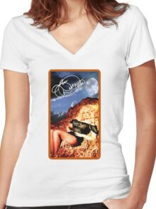 Dolly Parton - Vintage Reproduction - Happy Hay Roll Women's Fitted V-Neck T-Shirt