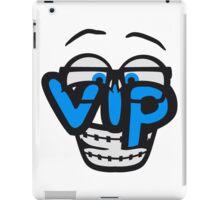 nerd geek hornbrille schlau intelligent lustig freunde team crew party feiern comic cartoon cool vip wichtig very importent person design  iPad Case/Skin