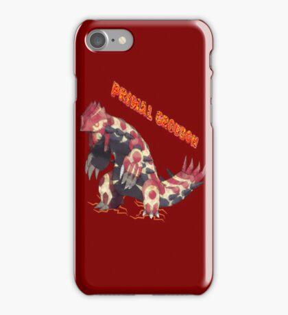Primal Groudon (Pokemon Omega Ruby) iPhone Case/Skin