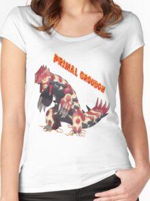 Primal Groudon (Pokemon Omega Ruby) Women's Fitted Scoop T-Shirt