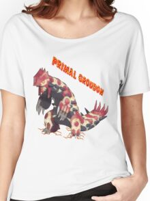 Primal Groudon (Pokemon Omega Ruby) Women's Relaxed Fit T-Shirt
