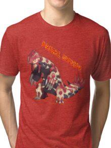 Primal Groudon (Pokemon Omega Ruby) Tri-blend T-Shirt