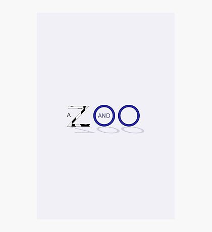 A Zed and Two Noughts alternative movie poster Photographic Print