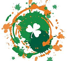 Cool Lucky Shamrock and Ink Background  by silvianeto