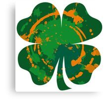 Cool Lucky clover and Ink Nr. 03 Canvas Print