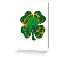 Cool Lucky clover and Ink Nr. 03 Greeting Card