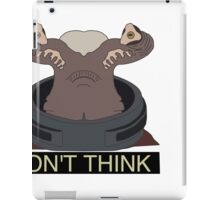 Doctor who the teller dont think iPad Case/Skin