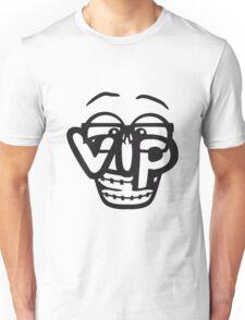 nerd geek hornbrille schlau intelligent lustig freunde team crew party feiern comic cartoon cool vip wichtig very importent person design  Unisex T-Shirt