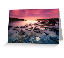Stones in the sea. Greeting Card