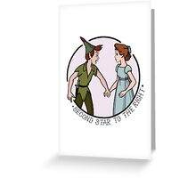 Peter Pan and Wendy Greeting Card
