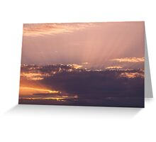 Violet clouds Greeting Card