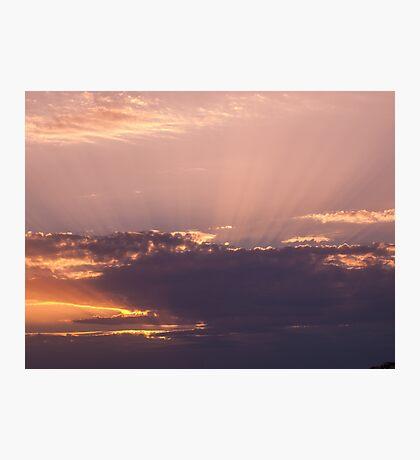 Violet clouds Photographic Print