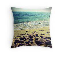 Copacabana Beach Throw Pillow
