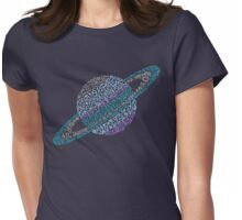 Saturnian Womens Fitted T-Shirt