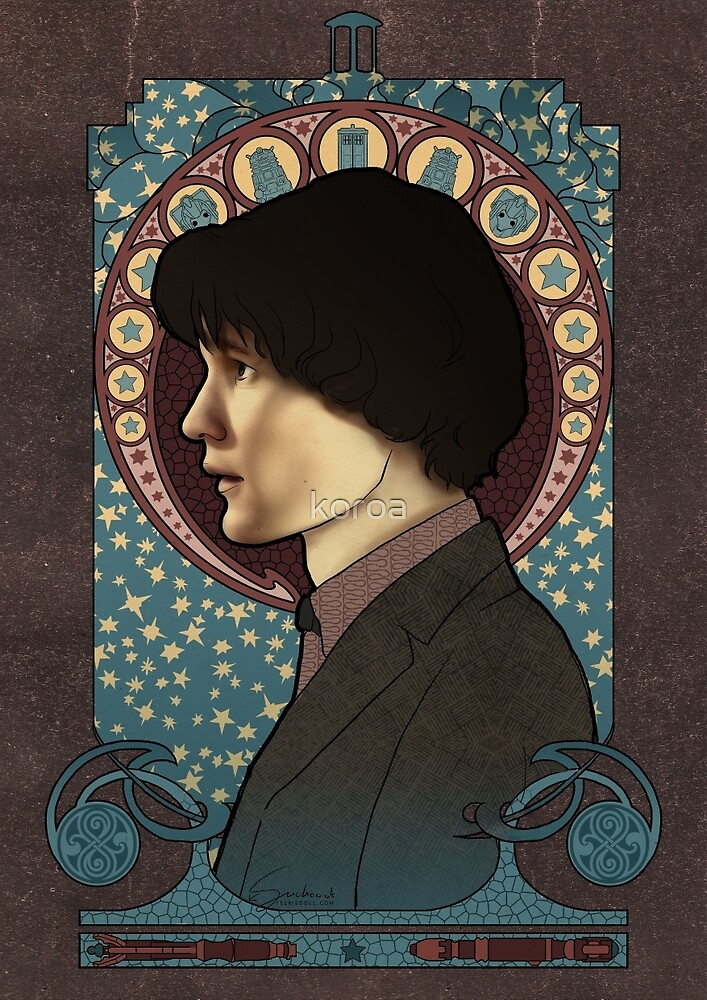11th doctor art nouveau  by koroa