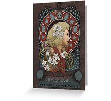 River art nouveau  Greeting Card