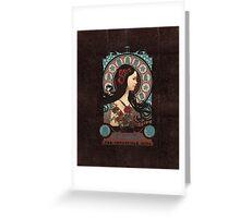 Clara art nouveau Greeting Card