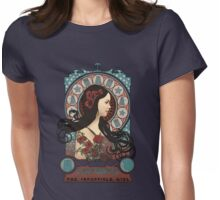 Clara art nouveau Womens Fitted T-Shirt