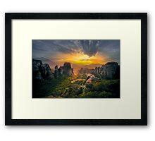 Meteora Framed Print