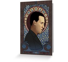 9th doctor art nouveau Greeting Card