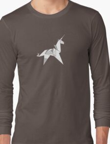 Origami Unicorn  Long Sleeve T-Shirt