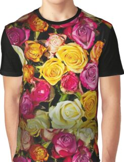 Beautiful Mixed Roses Bouquet Graphic T-Shirt