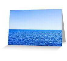 the horizon Greeting Card