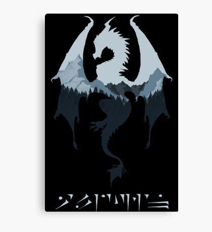 Dragon - Skyrim Canvas Print