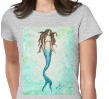 Mermaid | Watercolour Texture  Womens Fitted T-Shirt