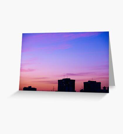 Urban sunset Greeting Card