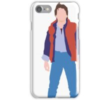Minimalistic Marty McFly  iPhone Case/Skin
