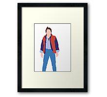 Minimalistic Marty McFly  Framed Print