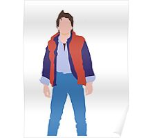 Minimalistic Marty McFly  Poster