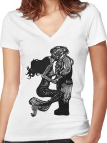 My Underwater Love Women's Fitted V-Neck T-Shirt