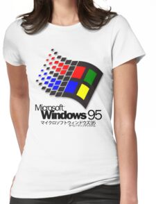 WINDOWS 95 (white/no clouds) Womens Fitted T-Shirt