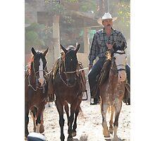 Country side - Mexican Cowboys - El campo - rancheros Photographic Print