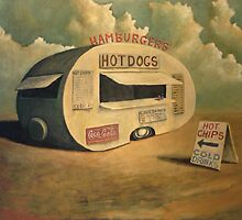 Abandoned Hotdog Van by tank