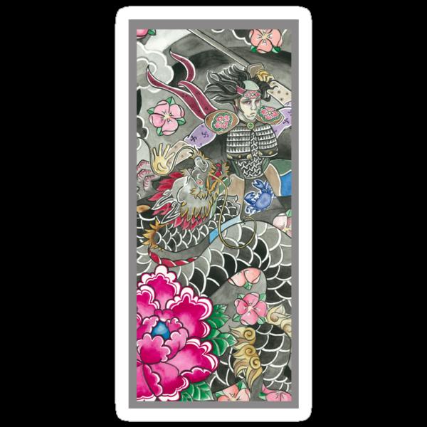 Samurai and Dragon by declantransam