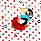 Bed of Roses Happy Penguin by Ruth Fitta-Schulz