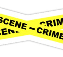 Crime Scene Tape Sticker