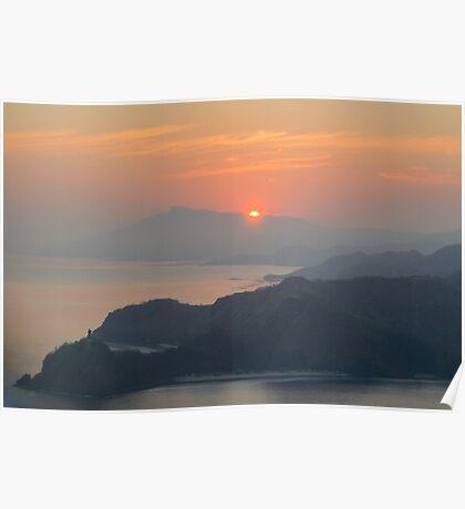 Sunrise over Cristo Rei Poster