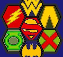Justice League - Superheroes by BagChemistry