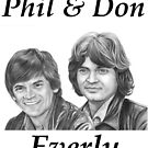 Phil & Don Everly by Margaret Sanderson