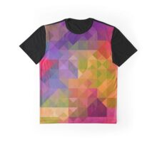Bright Colorful Geometric Abstract Graphic T-Shirt