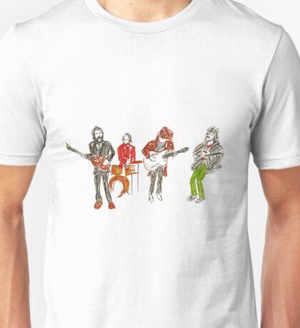 Scribble Beatles 2 - Rooftop Unisex T-Shirt