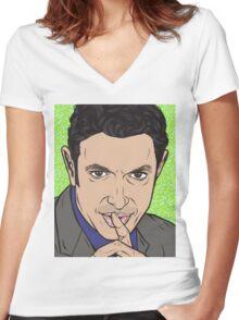 Jeff Goldblum Women's Fitted V-Neck T-Shirt