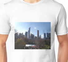 Autumn Foliage, Skating Rink, Central Park South Skyline, Central Park, New York City   Unisex T-Shirt