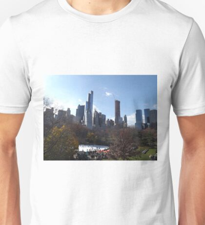 Autumn Foliage, Skating Rink, Central Park South Skyline, Central Park, New York City   T-Shirt