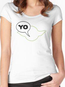 Star Wars Yoda Yo Parody  Women's Fitted Scoop T-Shirt